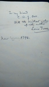 A book inscription from 1894