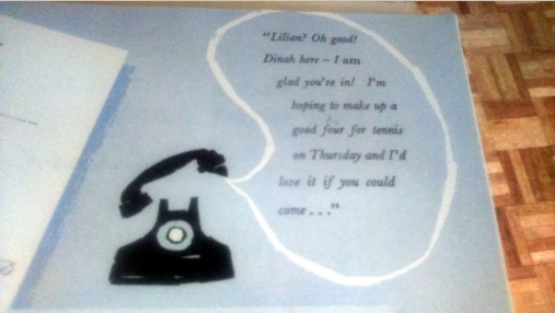 A photo from How to Be a Good Hostess of a telephone conversation