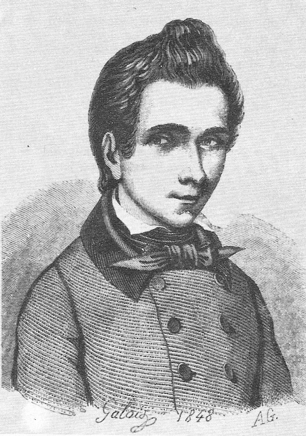 A drawing of Evariste Galois by his brother