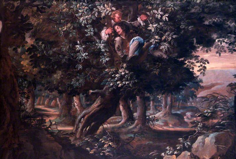 Fuller, Isaac, c.1606-1672; King Charles II and Colonel William Carlos in the Royal Oak