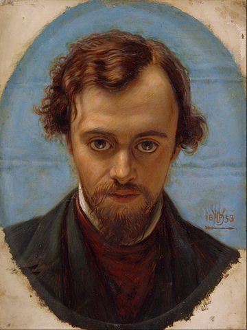 Portrait of Rossetti aged 22 by Holman Hunt