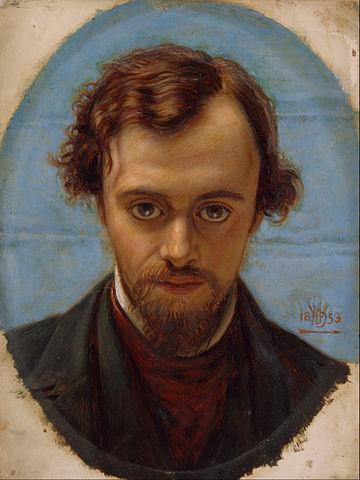 Portrait of Rossetti aged 22 by Holman Hunt