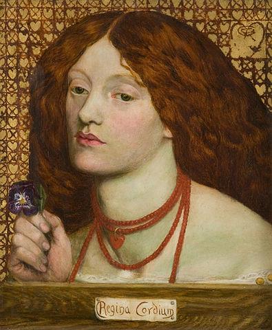 Regina Cordium (1860) by Dante Gabriel Rossetti - painted on their marriage