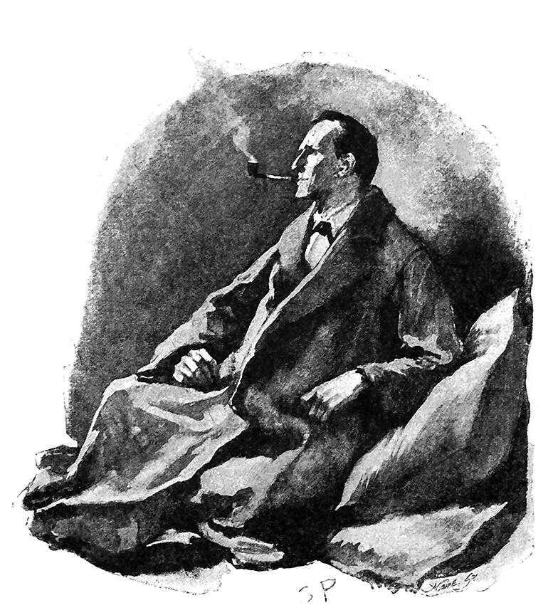 Illustration of Sherlock Holmes by Sidney Paget from The Man with the Twisted Lip