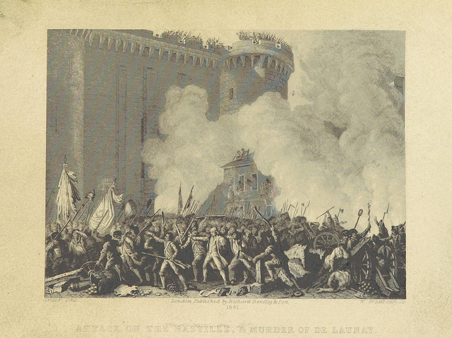 The Storming of the Bastille in The History of the French Revolution. Translated by F. Shoberl (1881)