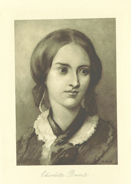 Illustration of Charlotte Bronte by Edmund Henry Garrett from 1899 edition of Jane Eyre