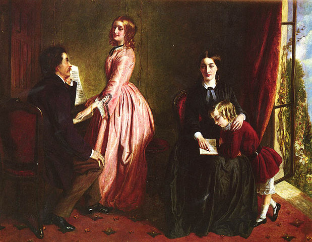 Painting of The Governess by Rebecca Solomon, 1851